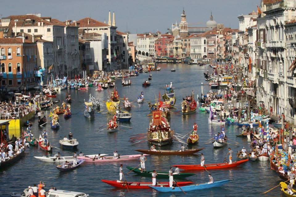 La regata histórica de Italia